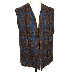 Vintage lambs wool mohair tweed boucle vest 16